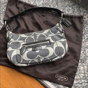 Coach classic logo small hobo grey purse bag